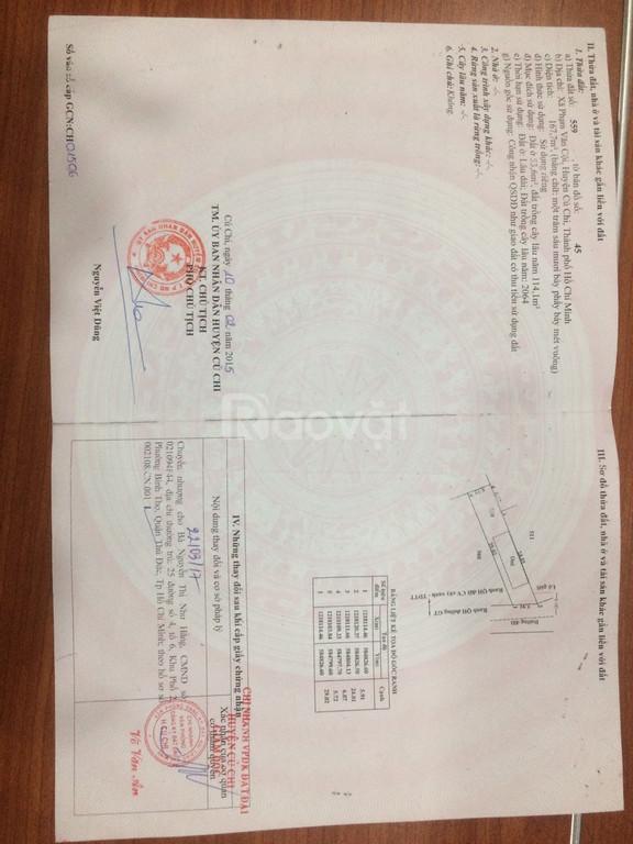 Chính chủ cần bán gấp nhà+đất xã Phạm Văn Cội-Củ Chi. Sổ hồng riêng.