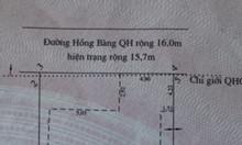 Đất mặt tiền đường Hồng Bàng cách biển Nha Trang 700m,dt 247m2 cần bán