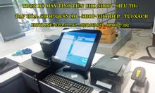 Full bộ đầy đủ máy tính tiền cảm ứng cho shop thời trang - túi xách