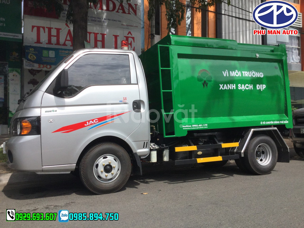 Xe jac chở rác, Xe tải thu gom rác, xe chở rác mini, Jac chở rác, 3.5