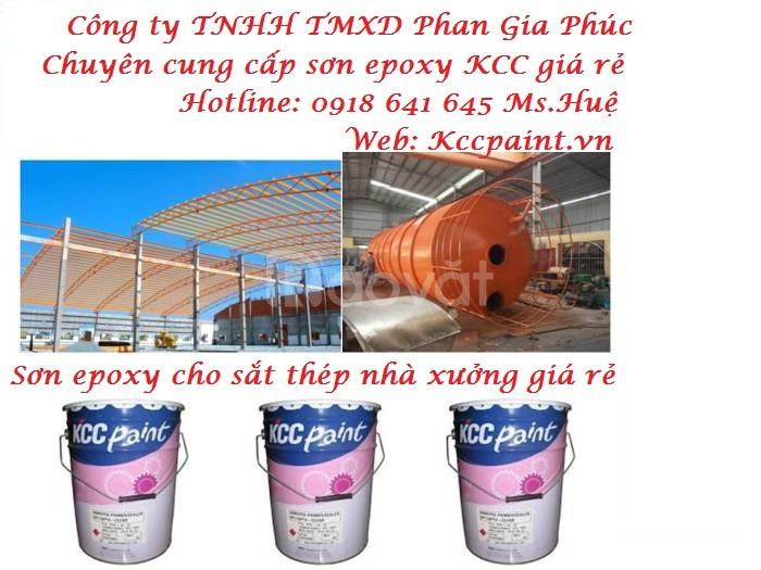 Sơn KCC Epoxy sắt thép:ET5740 phủ màu, EP170 lót chống rỉ giá rẻ