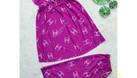 Chuyên sỉ đồ bộ lửng thun lạnh quai cánh tiên họa tiết (Mã 27255) (ảnh 3)
