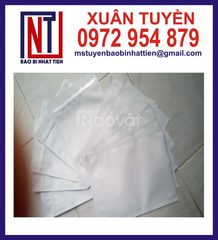 Sản xuất túi nhôm trắng sữa 3 biên