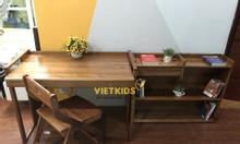 Bộ bàn học trẻ em – bàn học sinh gỗ tự nhiên đẹp