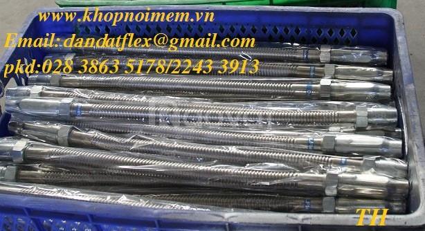 Hàng bảo hành:khớp nối mềm giảm chấn inox-dây cấp nước mềm inox (ảnh 5)