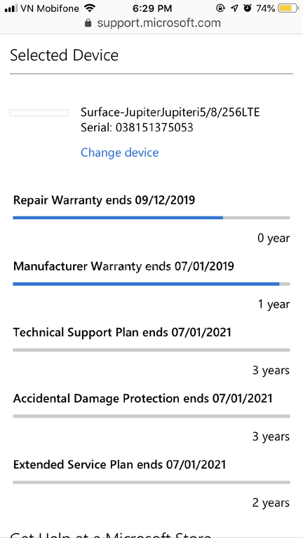 Bán Surface Pro 5 LTE (dùng sim 4G) Core i5/8/256 BH 7/1/2021