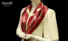 Khăn vuông lụa tơ tằm họa tiết nghệ thuật phục hưng - Nhasilk