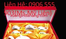 Cung cấp in logo bộ ấm trà, ấm chén...tại Đà Nẵng