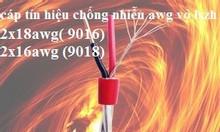 9018- cáp vặn xoắn báo cháy 2x18awg ( 0.75-1.0mm2), 2x16awg ( 1.5mm2)