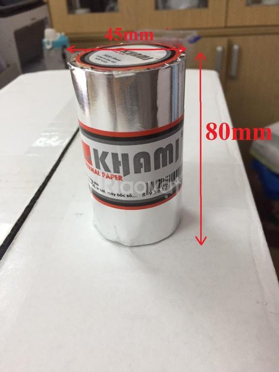 Giấy in nhiệt khami k80 - giấy in sakura k57
