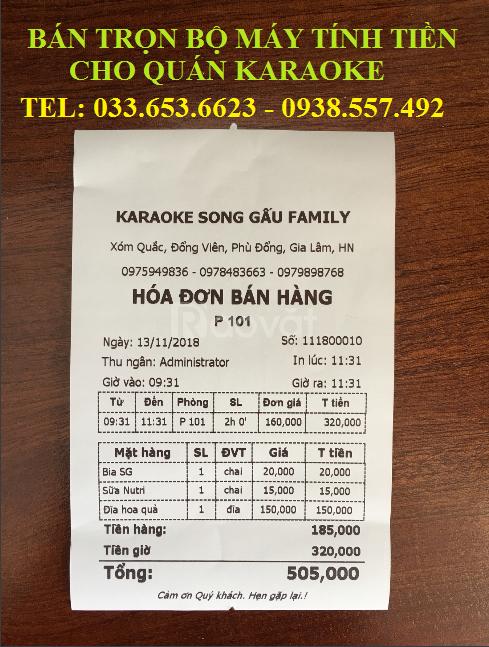 Máy tính tiền postích hợp máy in bill dùng cho karaoke giá rẻ