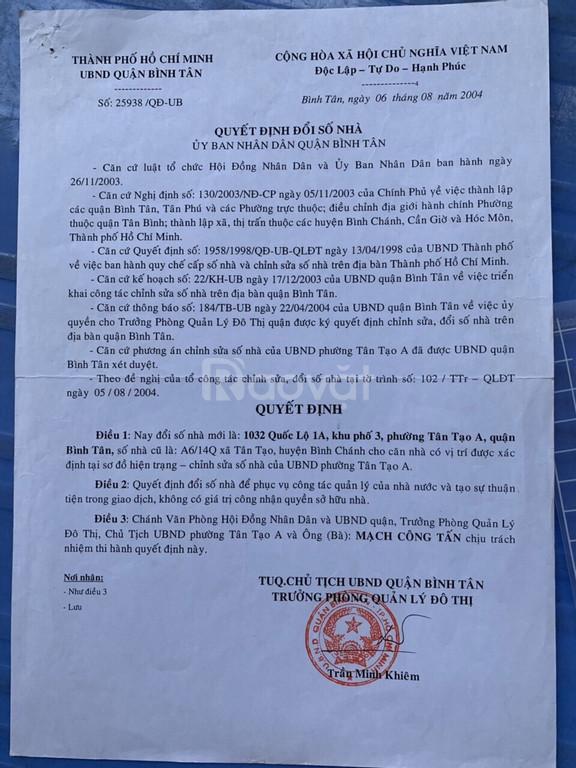 Bán gấp xưởng MT quốc lộ 1A, P. Tân Tạo, Bình Tân