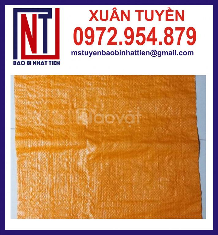 Bao PP dệt màu cam, màu vàng đựng gạo xuất khẩu