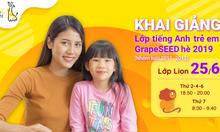 Tuyển sinh tiếng anh GrapeSEED cho bé 4~7 tuổi Active & Bright English