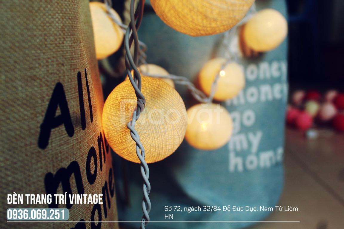 Đèn treo phòng ngủ - Đèn cotton ball - Bộ full vàng nắng (ảnh 4)