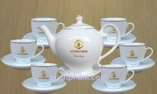 Xưởng in ấm trà gốm sứ Quảng Ngãi, in bộ ấm trà quà tặng Quảng Ngãi