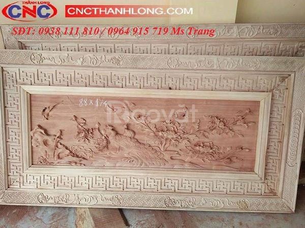 Máy cnc 1325 - 2 đầu đục tranh gỗ, vách ngăn