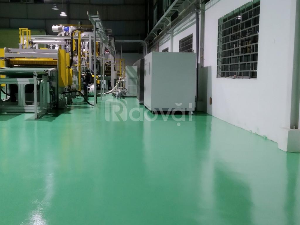 Cung cấp sơn sàn Epoxy cho nhà xưởng màu xanh giá tốt (ảnh 4)
