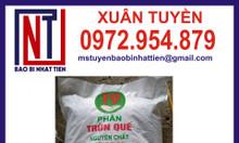 Bao bì đựng phân trùn quế 10kg, 25kg, 40kg, 50kg