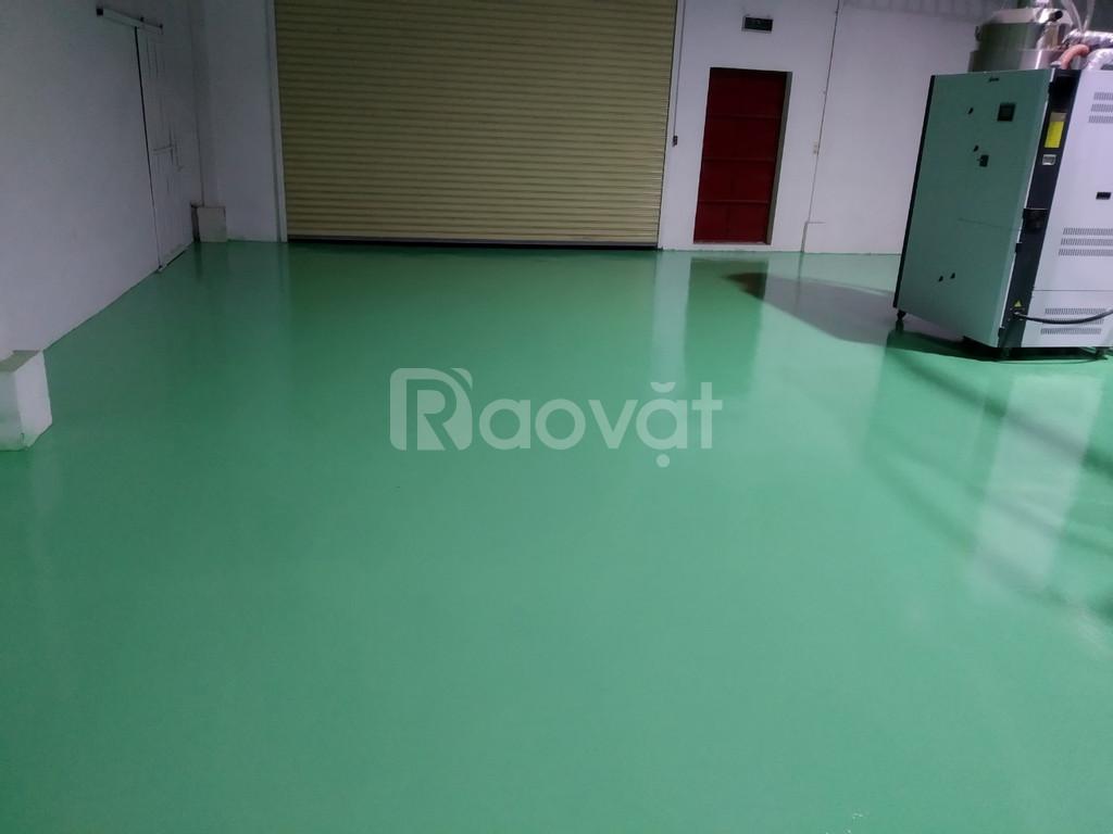 Cung cấp sơn sàn Epoxy cho nhà xưởng màu xanh giá tốt (ảnh 2)