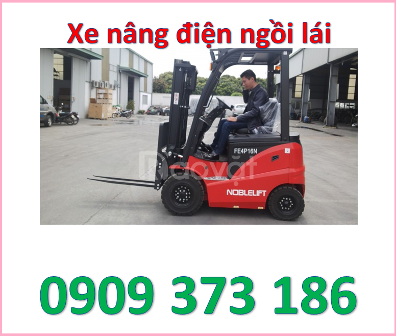 Xe nâng điện ngồi lái noblelift 2 tấn cao 3m,4m,5m