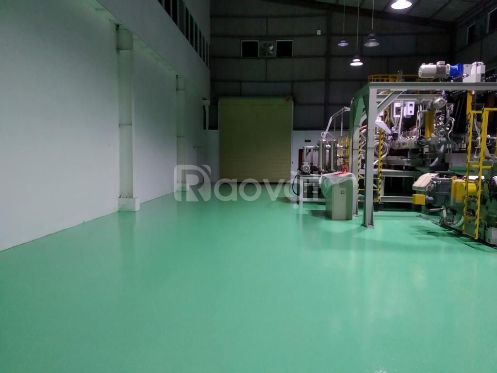 Cung cấp sơn sàn Epoxy cho nhà xưởng màu xanh giá tốt (ảnh 3)