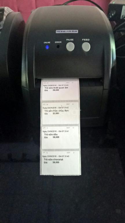 Thanh lý máy in tem trà sữa chính hãng tại Kon Tum