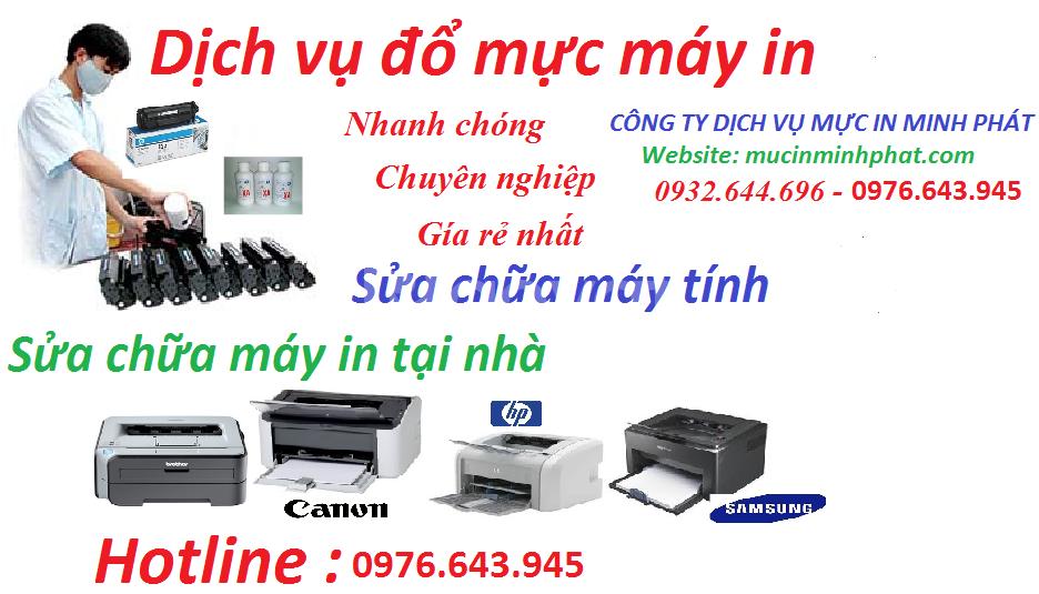 Dịch vụ mực in minh phát chuyên nạp mực máy in tận nơi tại quận Gò Vấp