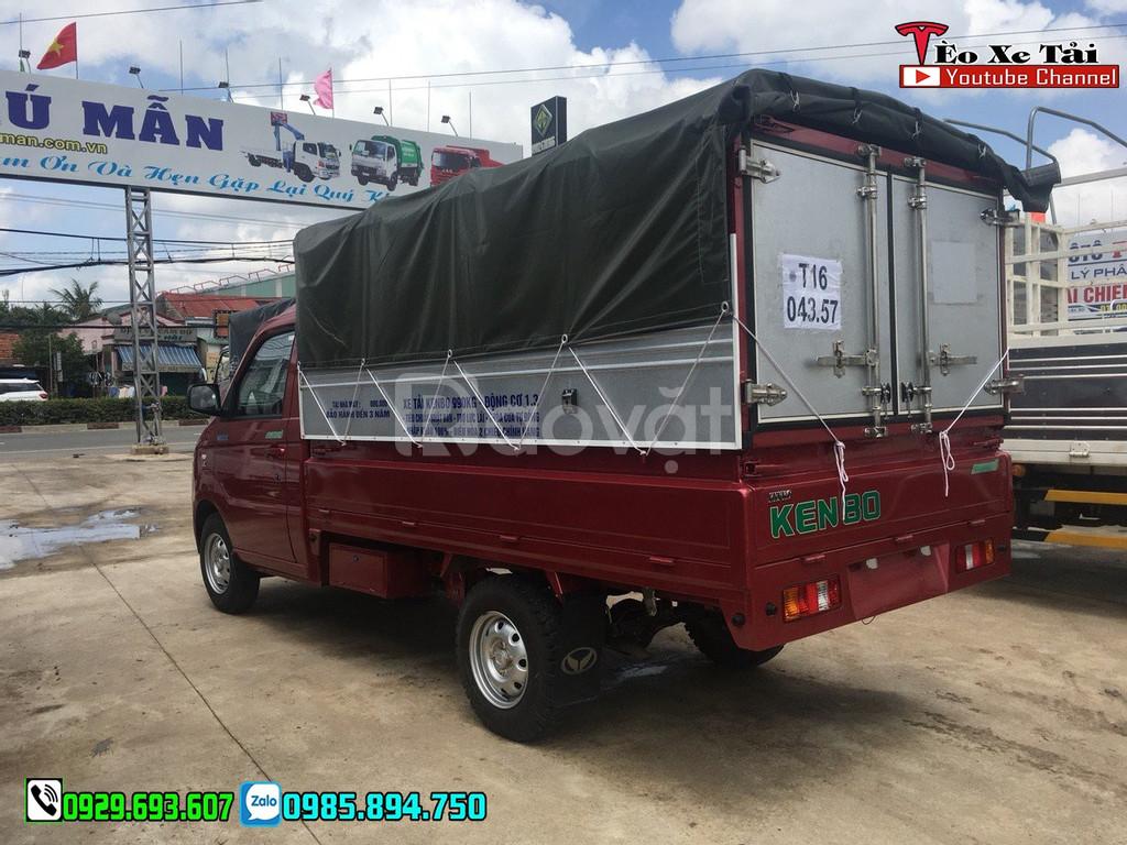 Kenbo 870kg – xe tải Kenbo 870kg thùng mui bạt, giá xe Kenbo 2019