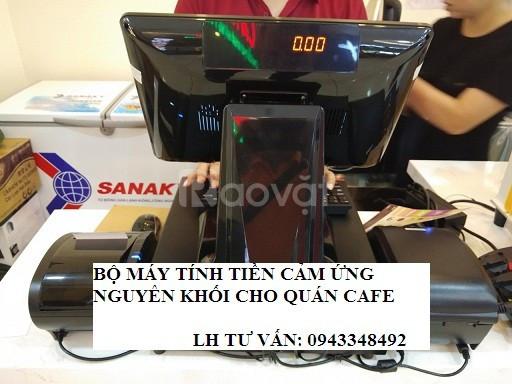 Nhận lắp tận nơi máy tính tiền màn hình cảm ứng cho quán Cafe