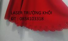 Đục lỗ laser nón mũ vải da simili Laser Trường Khôi