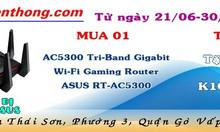 Khuyến mãi thiết bị mạng Asus AC5300 Tri-Band Gigabit