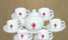 In bộ ấm trà quà tặng tại Huế, xưởng in gốm sứ Huế- Đà Nắng