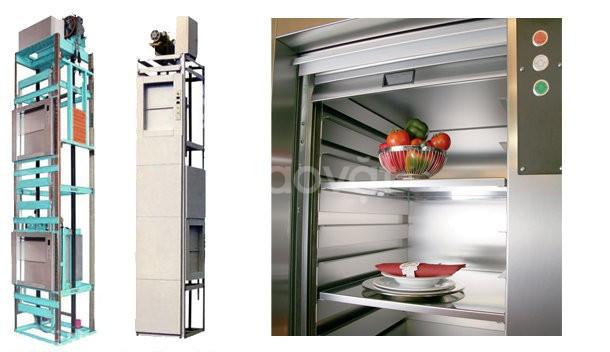 Thi công thang máy tời thức ăn, thang tời thực phẩm, thang tời hàng.