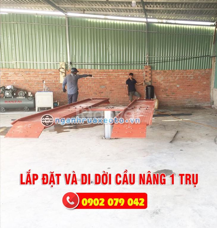 Cầu nâng ô tô 1 trụ - Thiết bị rửa xe ô tô chuyên dụng