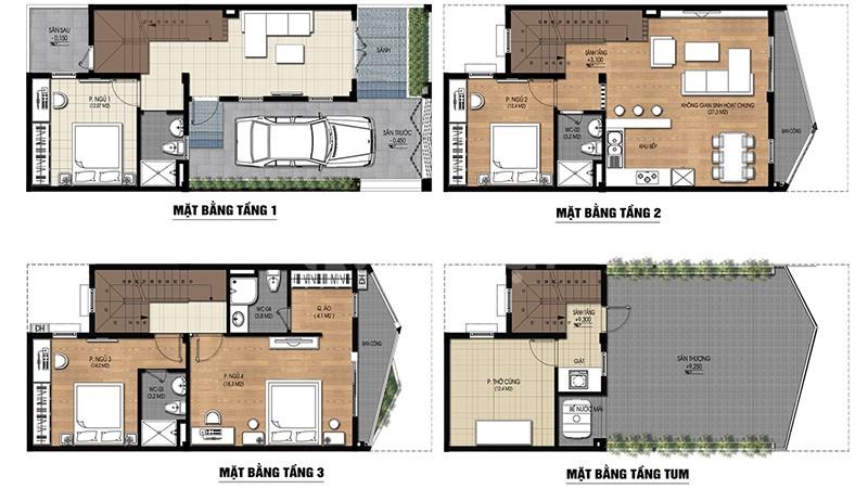 Bán nhà liền kề 3,5 tầng dự án nam 32 trạm Trôi, Hoài Đức