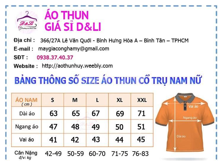 Áo thun nam nữ có cổ cá sấu cao cấp giá sỉ Hà Nội, TP HCM