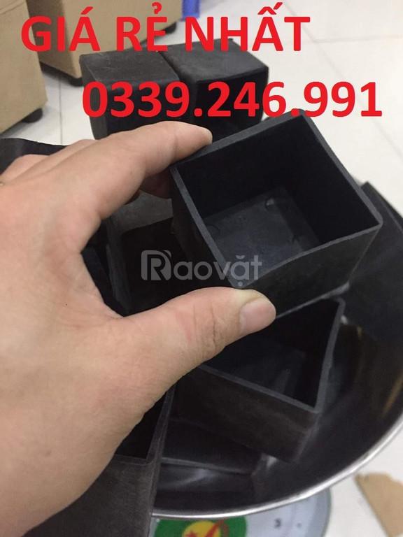 Nút nhựa bao ngoài chân ghế, móng đóng chân đầu sắt hộp, bịt nút nhựa (ảnh 1)
