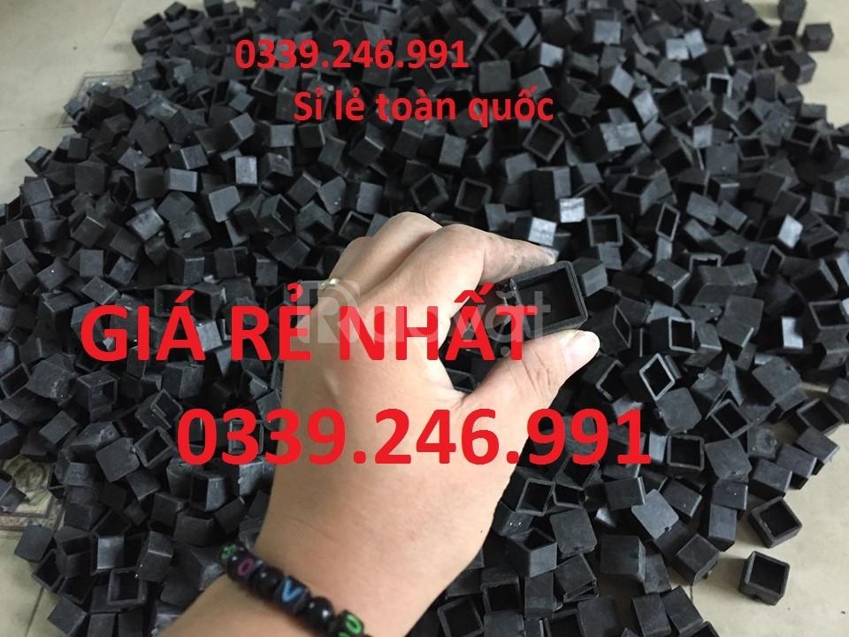 Nút nhựa bao ngoài chân ghế, móng đóng chân đầu sắt hộp, bịt nút nhựa (ảnh 5)