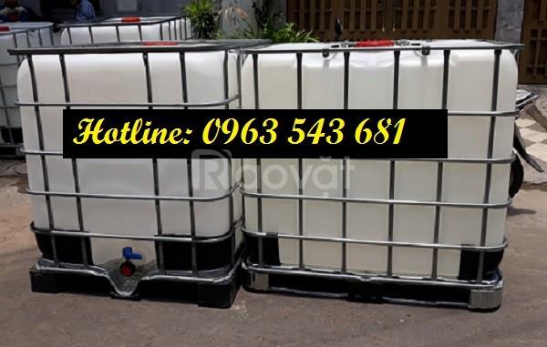 Bồn cũ 1000 lít đựng hóa chất, thùng nhựa cũ 1000 lít đựng hóa chất