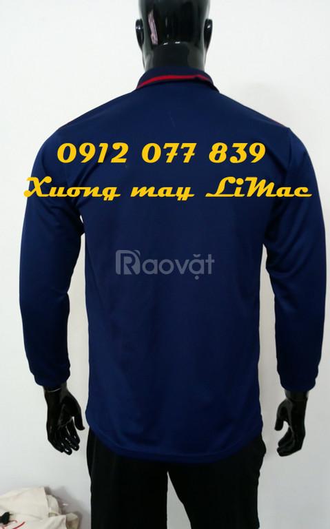 Xưởng may áo thun công nhân xanh đen tay dài giá rẻ