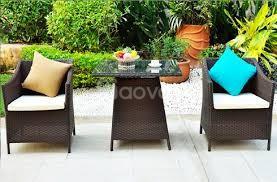 Bộ bàn ghế sân vườn nhựa giả mây xưởng cung cấp giá rẻ.
