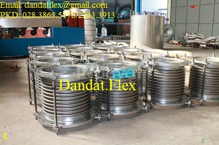 Ống mềm dẫn hơi chịu nhiệt/Khớp nối mềm inox 304 – inox 316 mặt bích