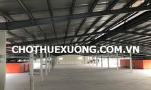 Cho thuê kho xưởng đẹp mới xây tại KCN Tiên Sơn Bắc Ninh DT 6000m2