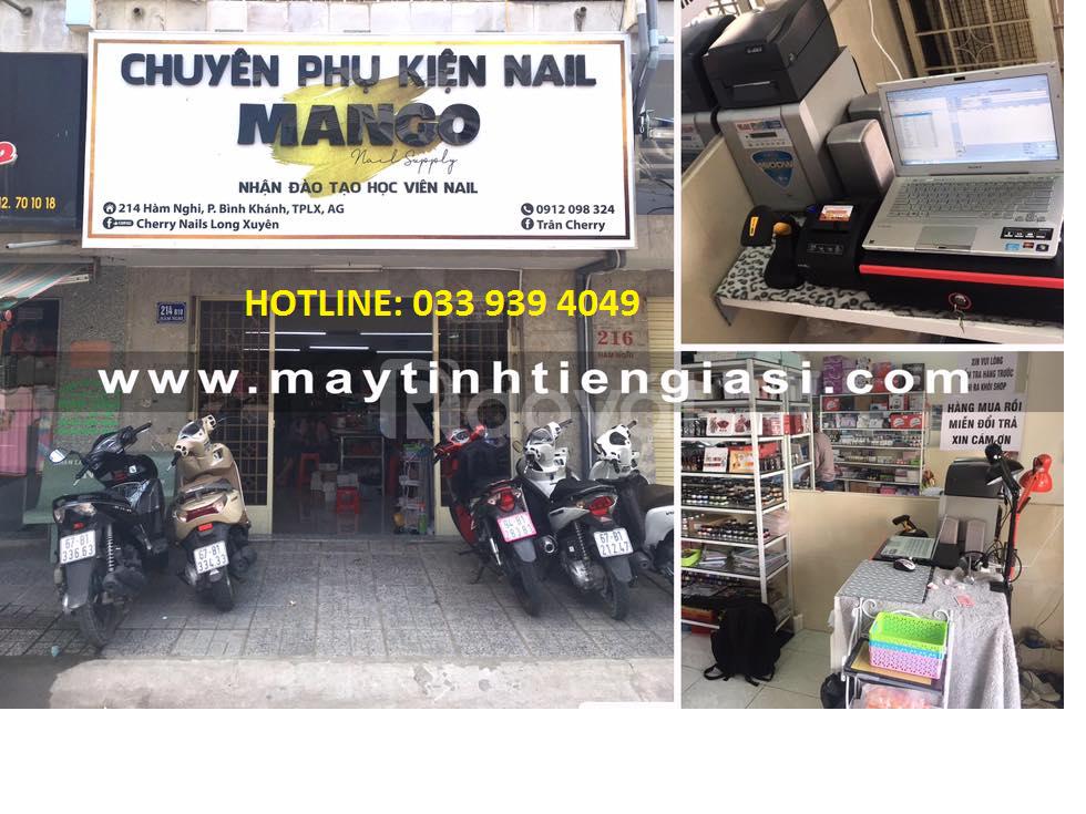 Trọn bộ máy tính tiền dùng cho shop quần áo,mỹ phẩm tại Huế