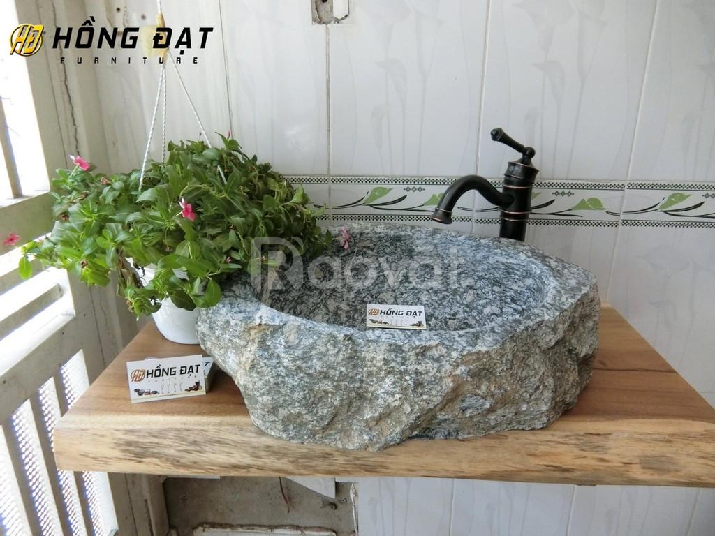 Chậu rửa đá tự nhiên, chậu rửa lavabo đá cuội giá rẻ