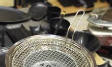 Vỉ nướng bếp âm bàn inox giá rẻ kích thước 29.5 cm cho quán nướng lẩu