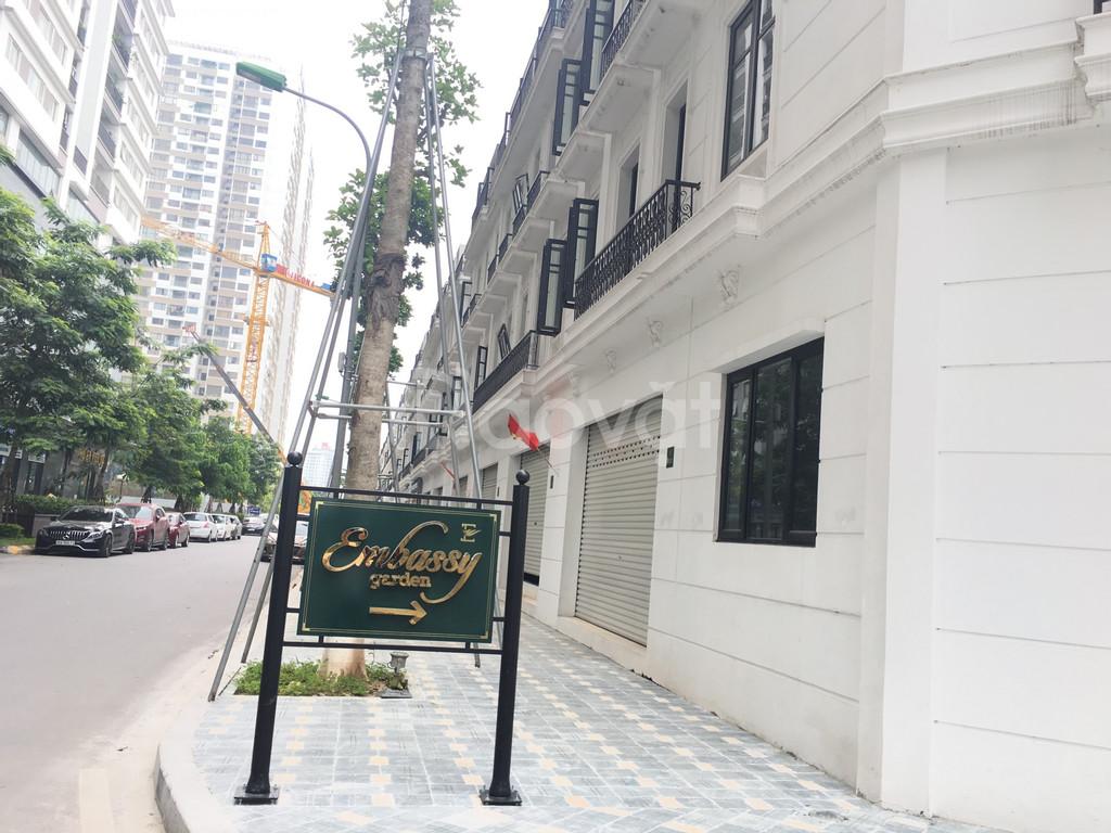 Cho thuê gấp Shophouse, biệt thự Embassy Garden KĐT Tây Hồ Tây