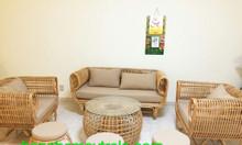 Bàn ghế sofa mây tre đan tự nhiên