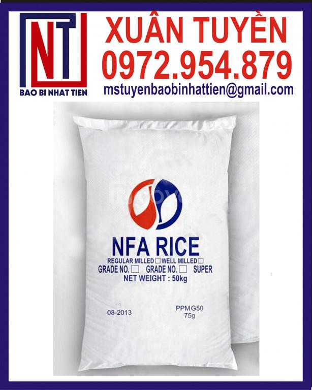 Bao pp đựng gạo 50kg, bao đựng gạo giá tốt
